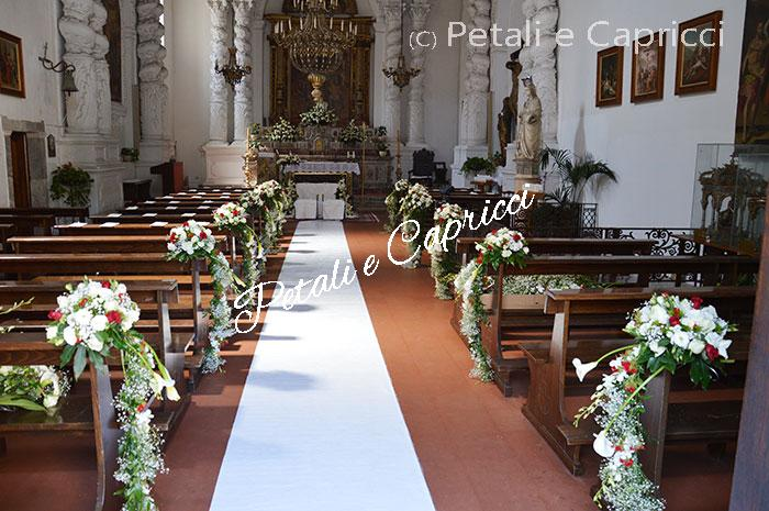 Floral arrangements for weddings in churches